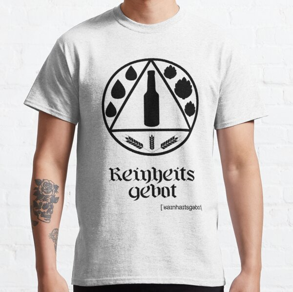 German Beer Purity Law Reinheitsgebot Black Classic T-Shirt