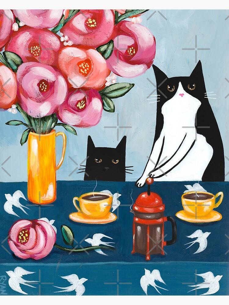 French Press Coffee Cats by kilkennycat