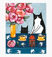 French Press Coffee Cats Fotodruck