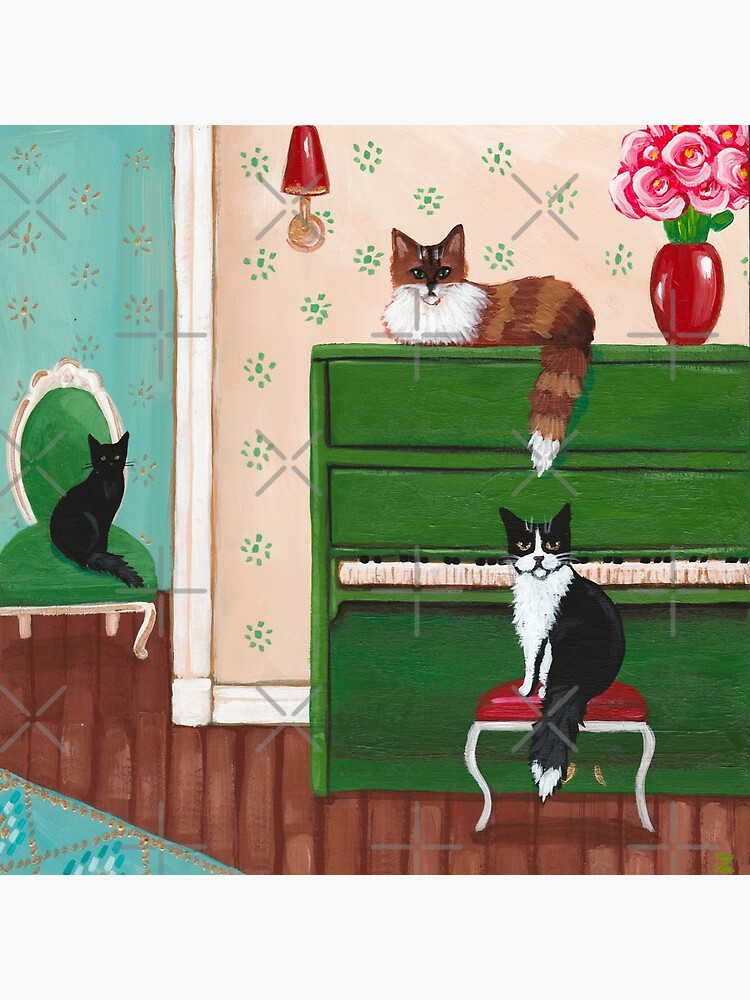 Cats and the Green Piano by kilkennycat