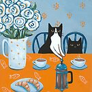 French Press Coffee Cats by Ryan Conners