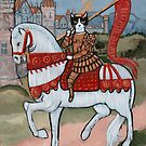 Joan of Arc as a Cat by Ryan Conners