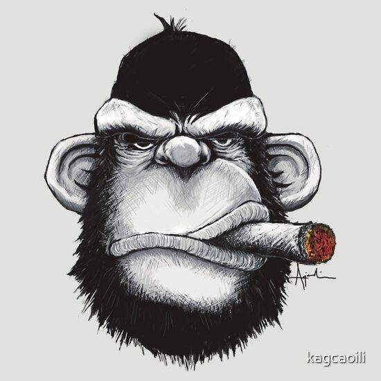 TShirtGifter presents: Cigar Monkey