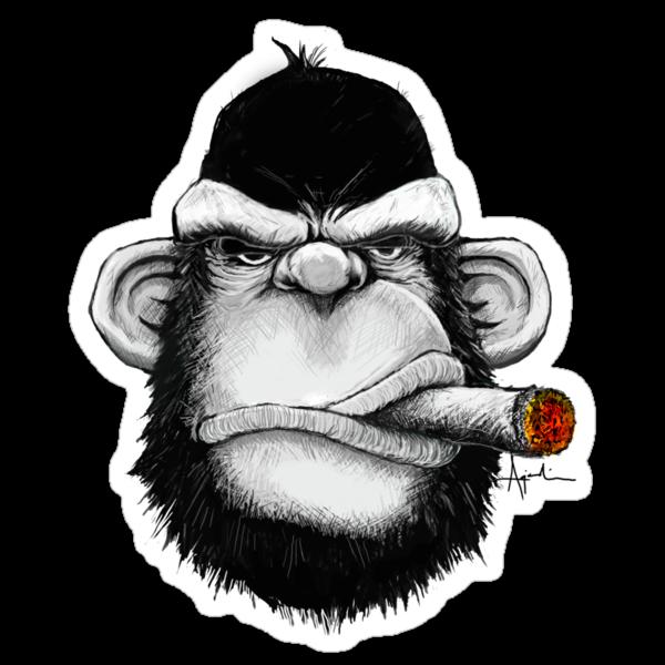 Cigar Monkey by kagcaoili