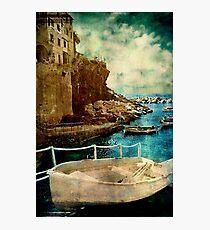 Cinque Terre Boat Photographic Print