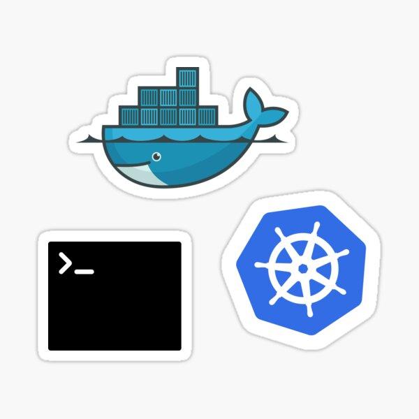 Docker, Terminal, Kubernetes Combo Pack Sticker
