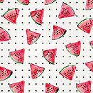 Wassermelonen-Tupfen von Cat Coquillette
