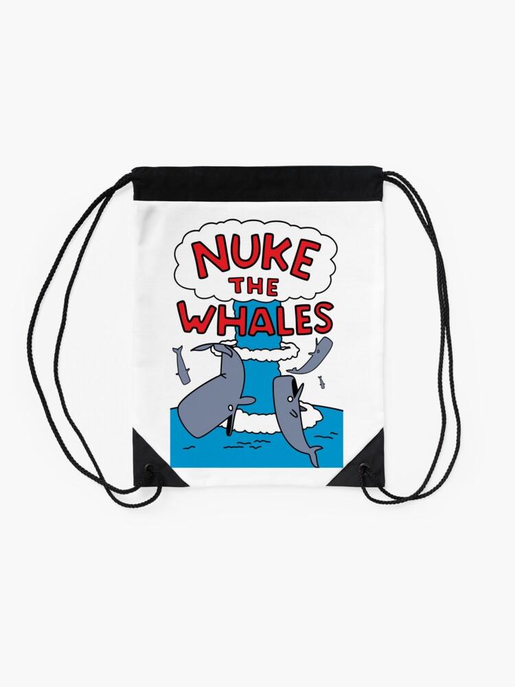 Alternate view of Nuke The Whales Drawstring Bag