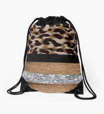 Custom Work - Leopard Design for Tango Shoes Drawstring Bag