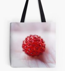 wild strawberry in my hand Tote Bag