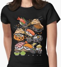 Sushi-Party! Tailliertes T-Shirt