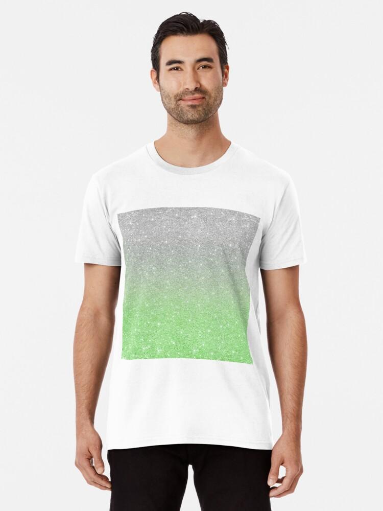 f481fac8ef49 Mint Green Trendy Silver Ombre Glitter