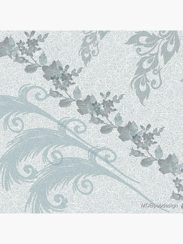 Mint Green Leaves by MOBpubdesign