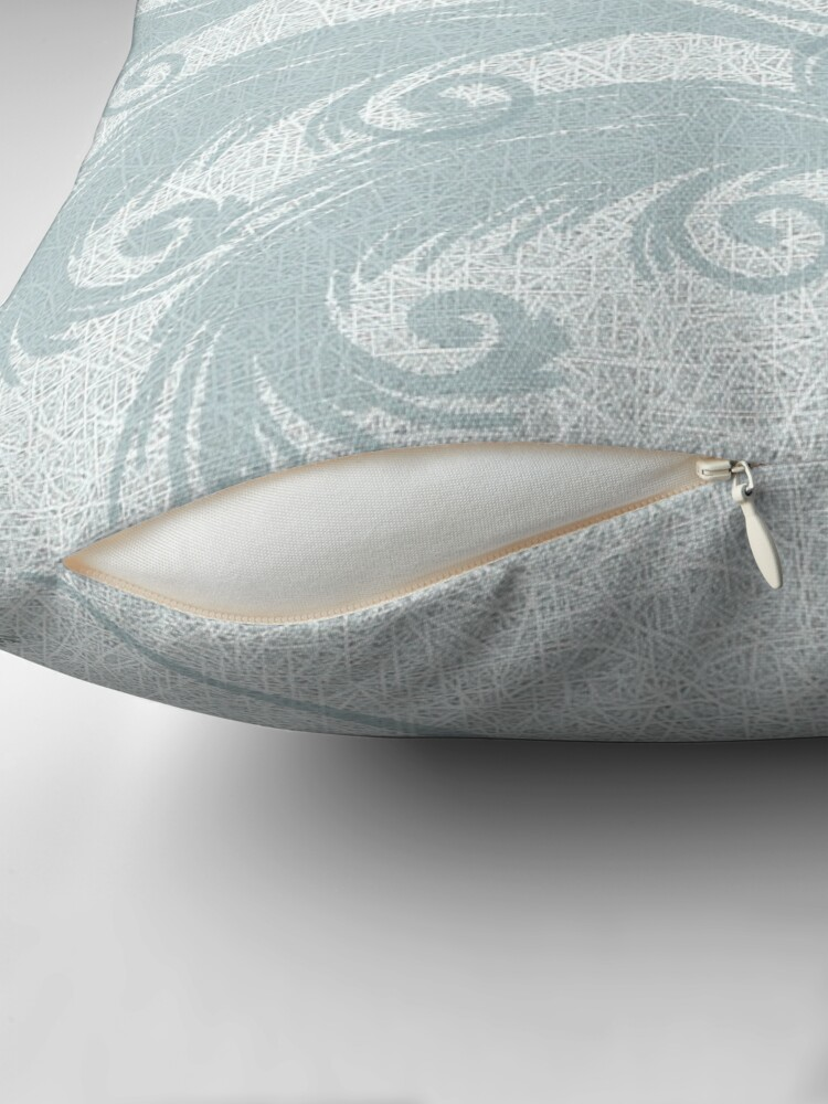 Alternate view of Mint Green Leaves Throw Pillow