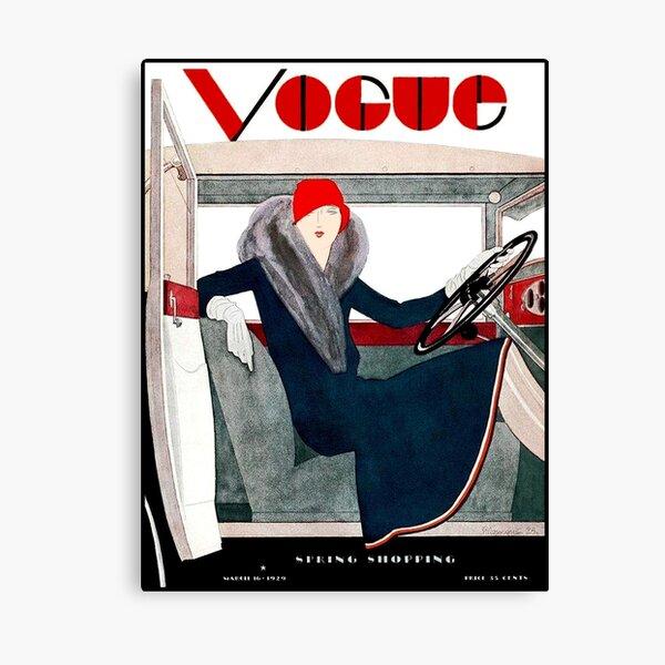 VOGUE : Vintage Spring 1929 Magazine Advertising Print Canvas Print