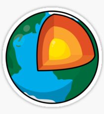 Center of the Earth Sticker