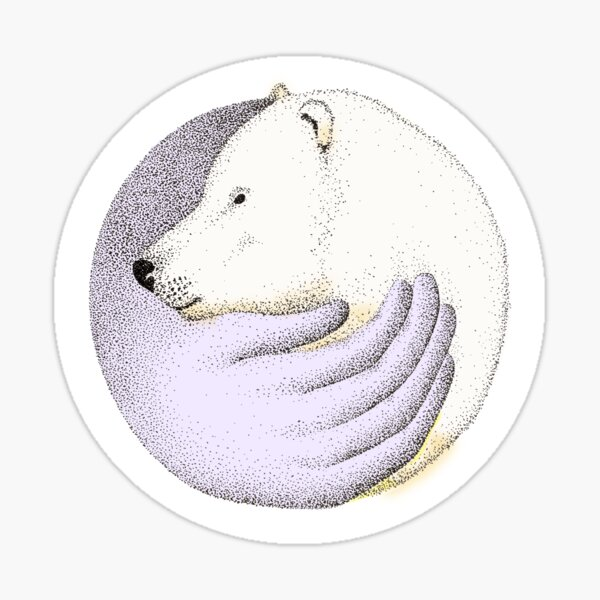 Save the polar bears Sticker