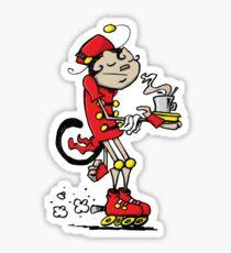 Monkey Barista Sticker