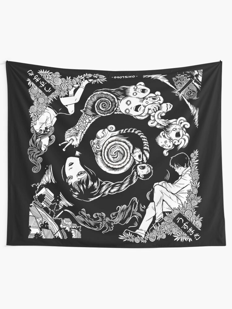 Alternate view of Spiral Into Horror - Uzumaki Tapestry