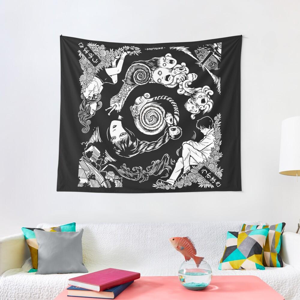 Spiral Into Horror - Uzumaki Tapestry