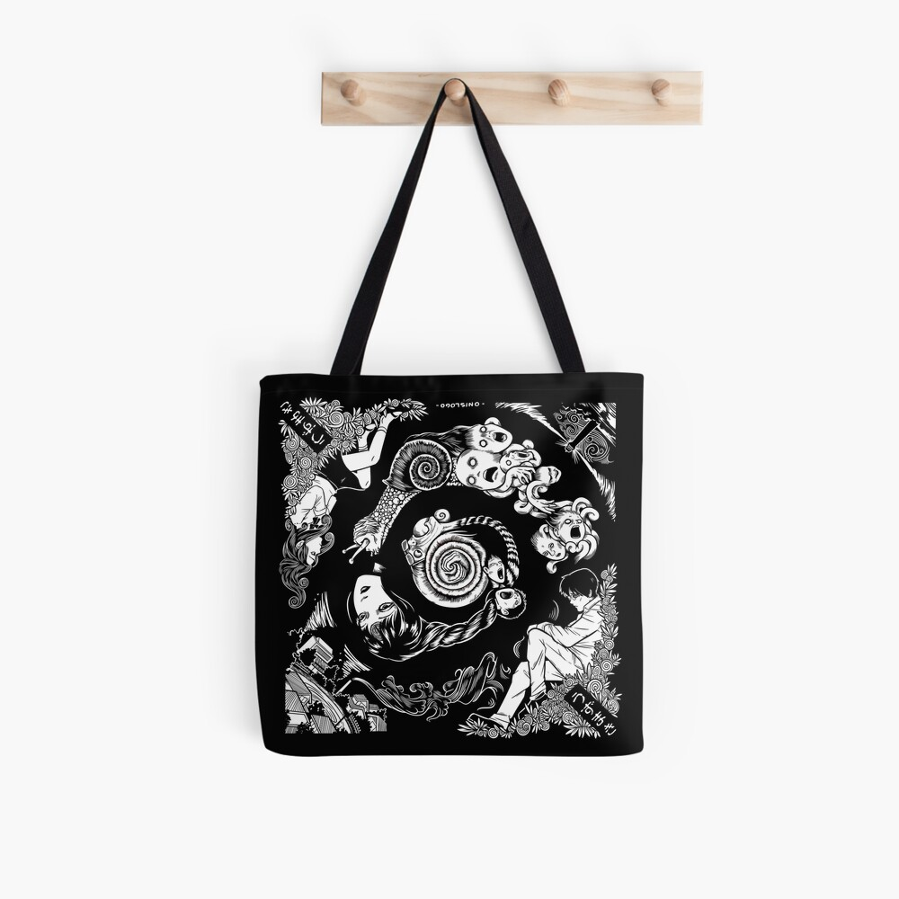 Spiral Into Horror - Uzumaki Tote Bag