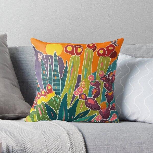Butterfly Sunset Throw Pillow