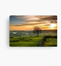 Sunset from The Roaches Canvas Print