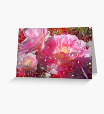 Lovely Tulips & Pink. Greeting Card