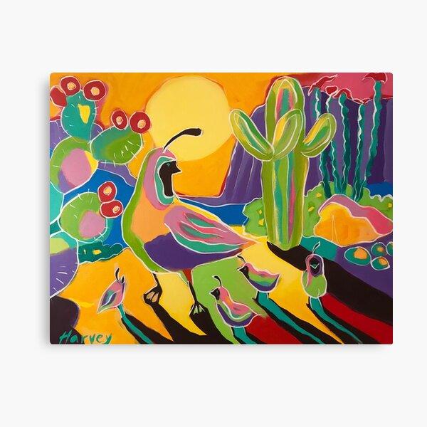 Quail Familia Canvas Print