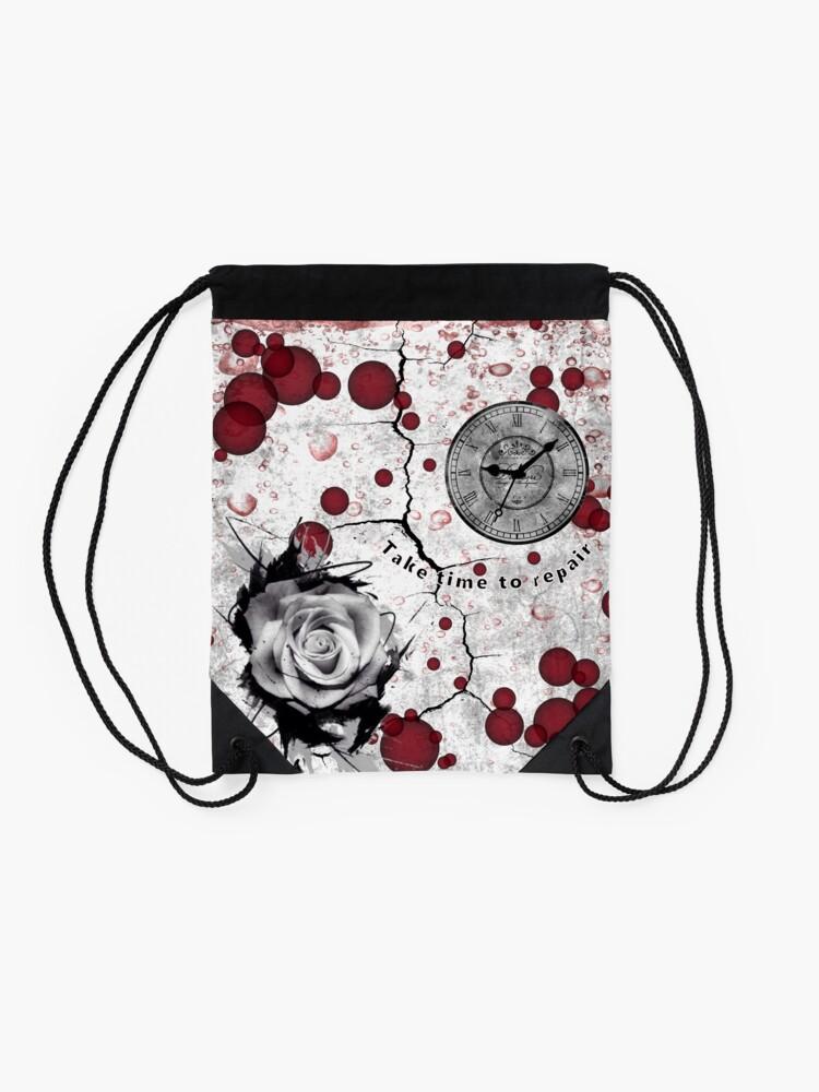 Alternate view of Trash Polka No 12. Digital Collage  Drawstring Bag