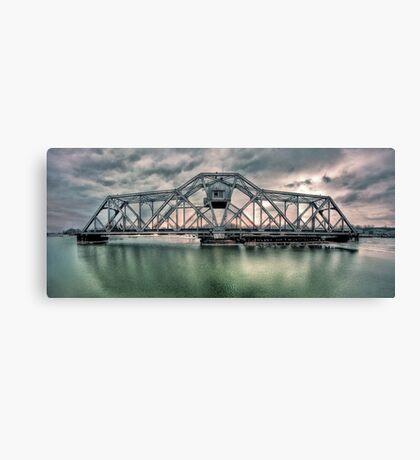 Hojack swingbridge - Rochester NY Canvas Print