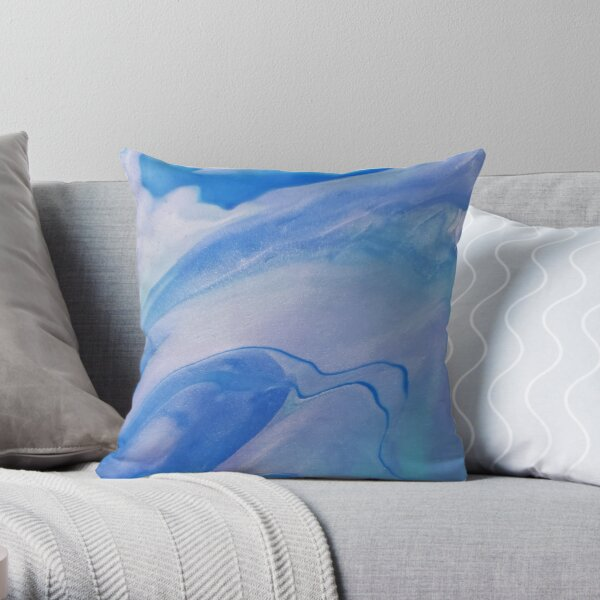 Shimmering Blue Purple Throw Pillow