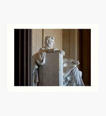 Pondering Lincoln Art Print