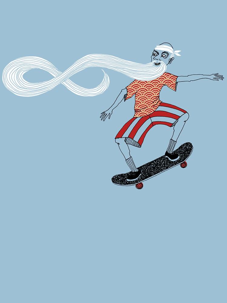 The Ancient Skater, Forever Skate ukiyo e style | Unisex T-Shirt