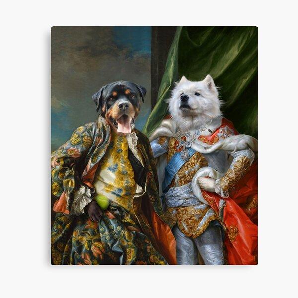 Dog Portrait - Luna and Hector Canvas Print