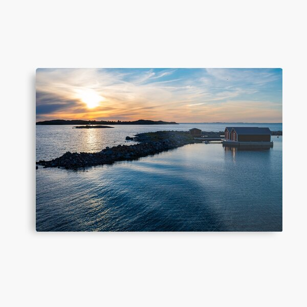 Beautiful small islands during the sunset time in Finnish archipelago Metal Print