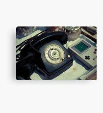 Vintage Phone & Game Boy Canvas Print