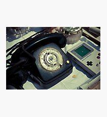 Vintage Phone & Game Boy Photographic Print