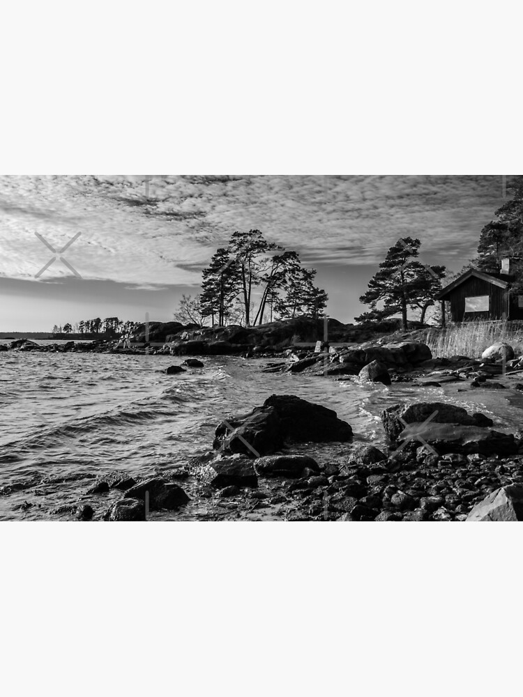 Wooden house by the sea in Finland Europe by gkurushin