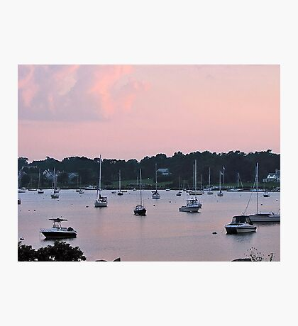 Pastels in the harbor Photographic Print