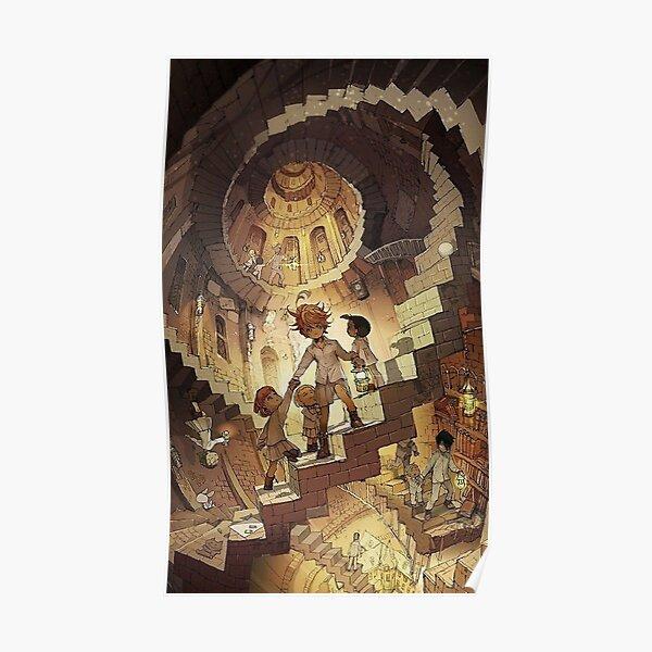 Yakusoku no Neverland The Promised Neverland - Emma, Ray & Norman Poster