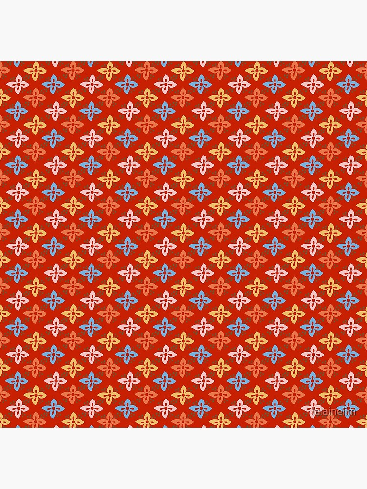 Las Flores - Red 01 (Patterns Please) by lalainelim
