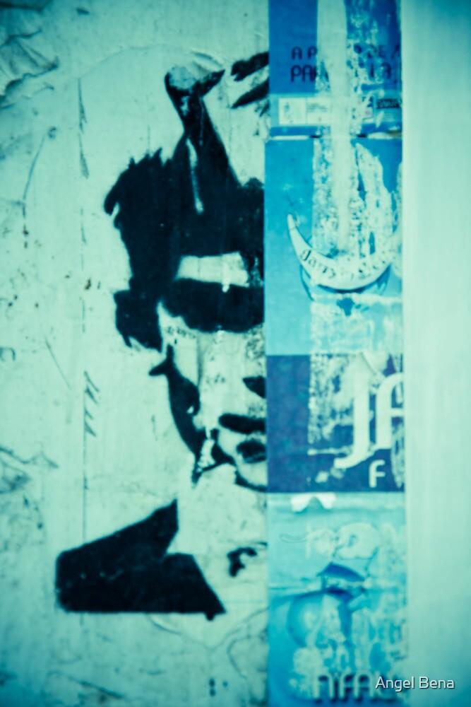 Street art face by Angel Bena