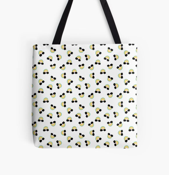 Cheerful rainbow pattern  All Over Print Tote Bag