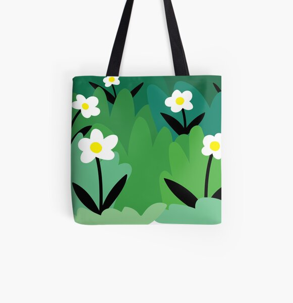 Daisy flower floral plant illustration All Over Print Tote Bag