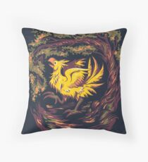 Chocobo with Blossoms Throw Pillow