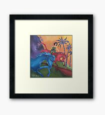 Dreaming when Dawn's Left Hand was in the Sky Framed Print