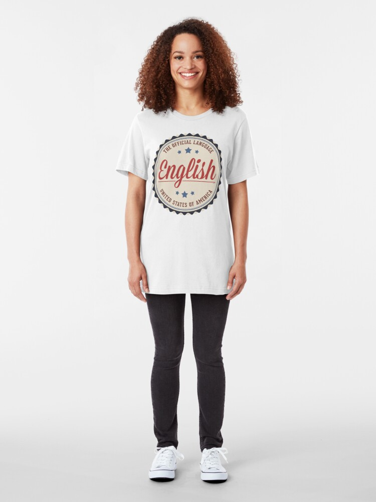 Alternate view of USA Official Language Slim Fit T-Shirt