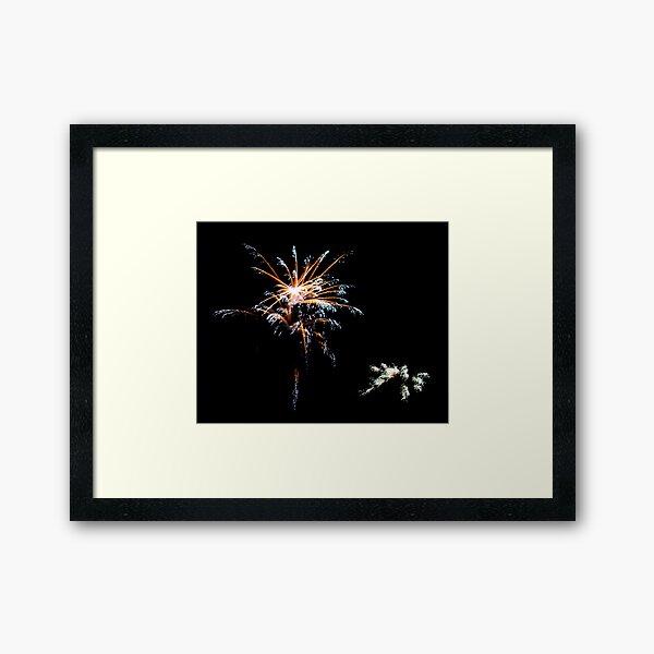 Wolfeboro Fireworks I Framed Art Print