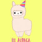 ALPACA Birthday Card! Party Hat Animal Birthday Puns by JustTheBeginning-x (Tori)